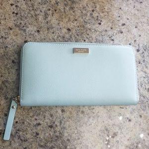 Kate Spade Light Blue Neda Newberry Lane Wallet